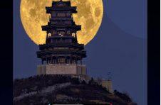 上抖音直播,随追星者虞骏直播看超级月亮